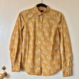 Liberty Perfect Shirt in Floral Ochre Ivory NWOT